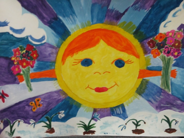 рисунок на тему солнце светит мама греет